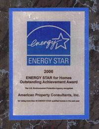 ENERGY STAR for Homes Outstanding Achievement Award for American Property Consultants, Inc.
